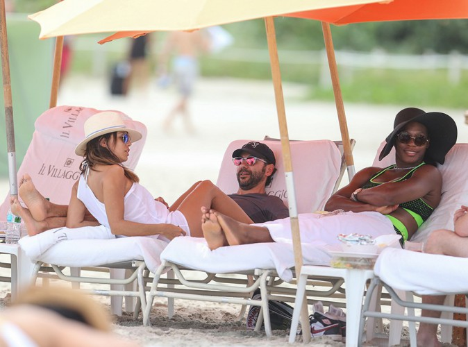 Eva Longoria, Jose Antonio Baston et Serena Williams à Miami le 13 septembre 2014