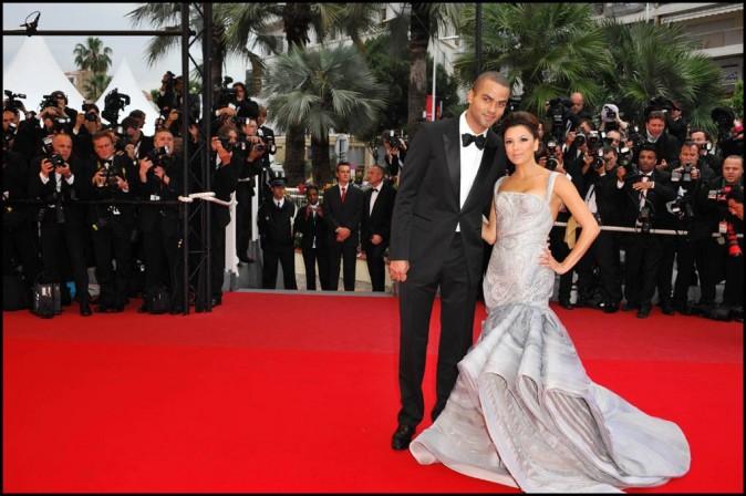 Eva Longoria et Tony Parker lors du Festival de Cannes, le 15 mai 2009.