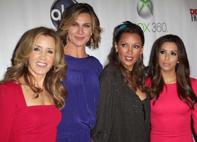 Felicity Huffman, Brenda Strong, Vanessa Williams et Eva Longoria lors de la Desperate Housewives Final Party à L.A., le 29 avril 2012.