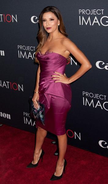 "Eva Longoria lors du ""Canon's Project Imaginat10n Film Festival"" à New York, le 24 octobre 2013."