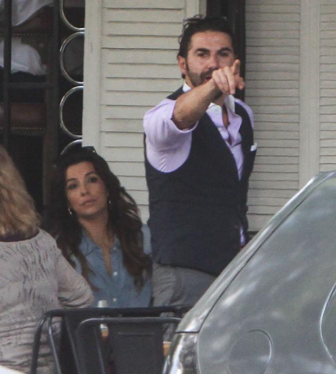 Eva Longoria avec Jose Antonio Baston à Mexico le 29 août 2014