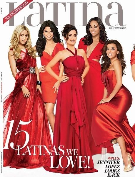 Shakira, Selena Gomez, Salma Hayek, Zoe Saldana et Eva Longoria en couverture de Latina Magazine.