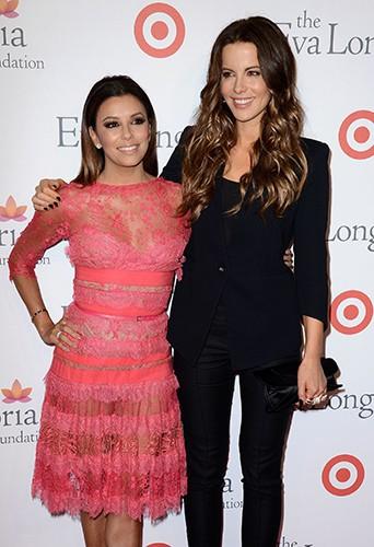 Eva Longoria et Kate Beckinsale à Hollywood le 28 septembre 2013