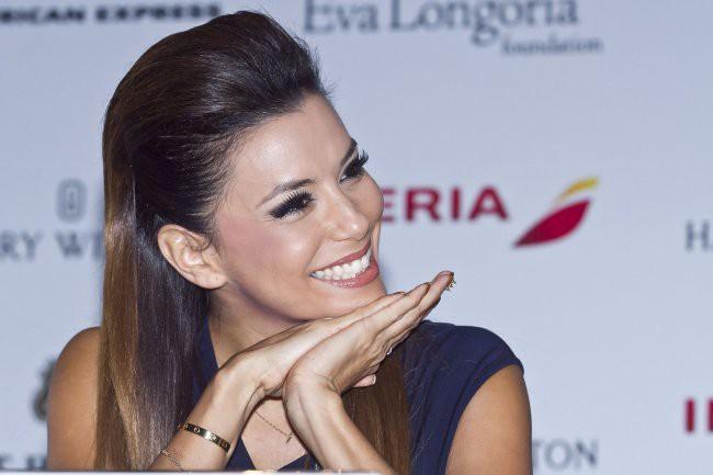 Eva Longoria lors de la conférence de presse du Global Gift Gala à Mexico City, le 30 janvier 2014.