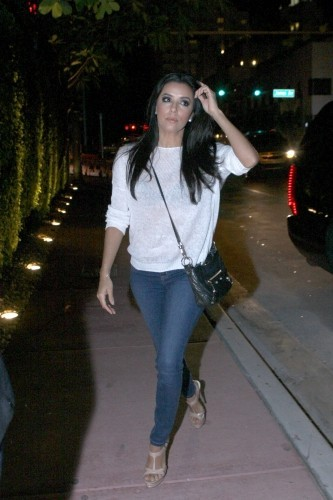 Eva Longoria, Miami, 30 décembre 2012.