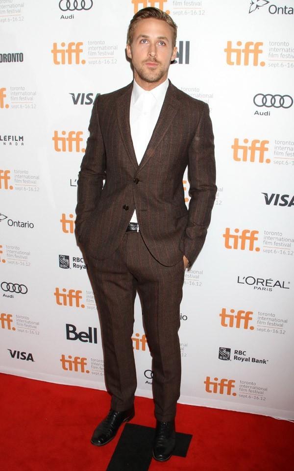Eva Mendes avec Ryan Gosling à Toronto le 7 septembre 2012