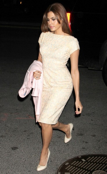 Eva Mendes en promo à New York, le 27 mars 2013.