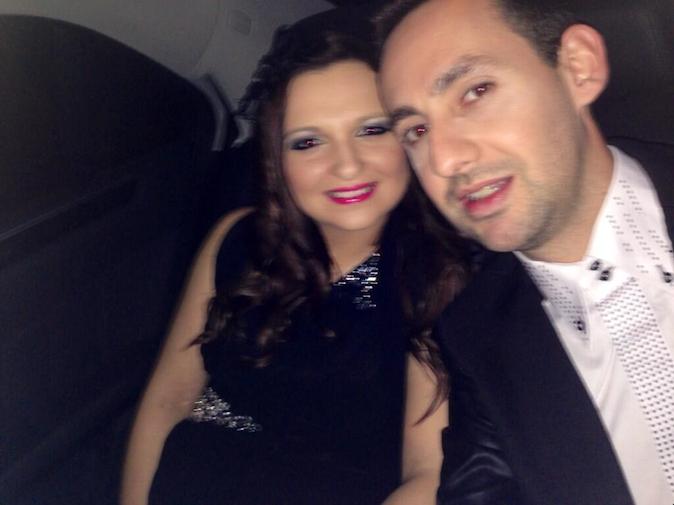 Florent et Anne-Sophie, enceinte de huit mois, sur le chemin des Lauriers TV Awards !