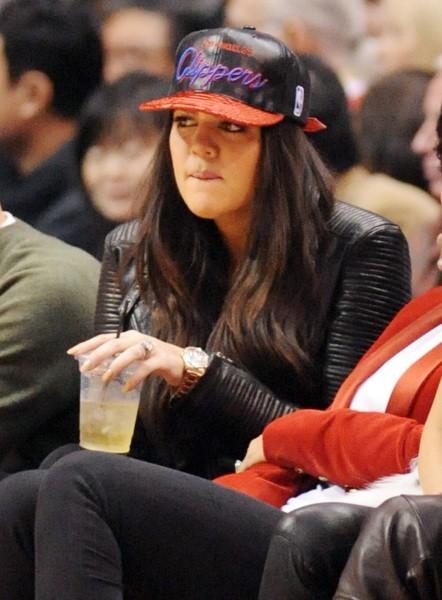 Khloe Kardashian lors du match entre les Clippers de Los Angeles et les Nuggets de Denver, le 25 décembre 2012 à Los Angeles.