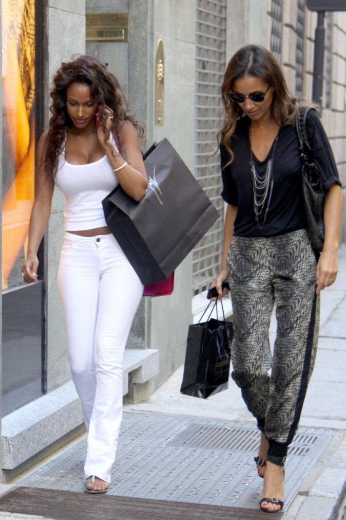 Photos : Fanny Neguesha : séance shopping pour la future épouse de Mario Balotelli !
