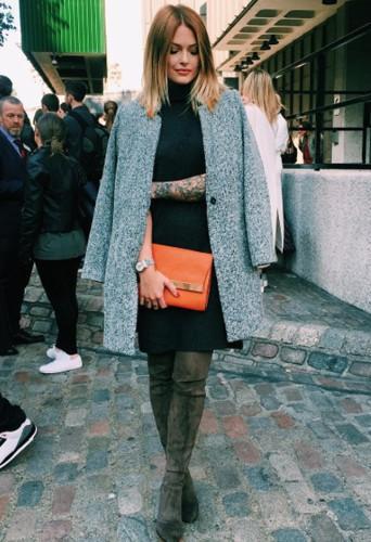 Photos : Fashion Week de Londres : Caroline Receveur sublime aux côtés de Ciara !