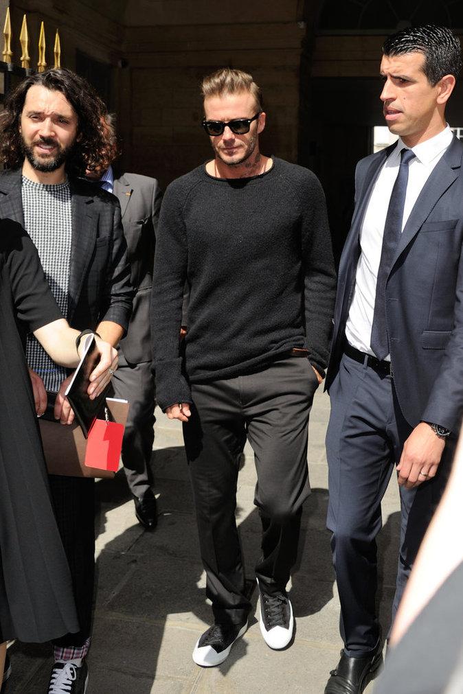 David Beckham au défilé Louis Vuitton à Paris ce jeudi 23 juin 2016