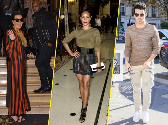 Photos : Fashion Week de Paris : Kris Jenner, Jada Pinkett Smith, Joe Jonas… Les Américains chez Balmain !