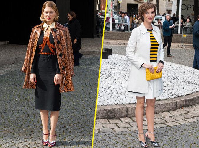 Fashion Week de Paris : Léa Seydoux et Louise Bourgoin : l'élégance à la française chez Miu Miu !