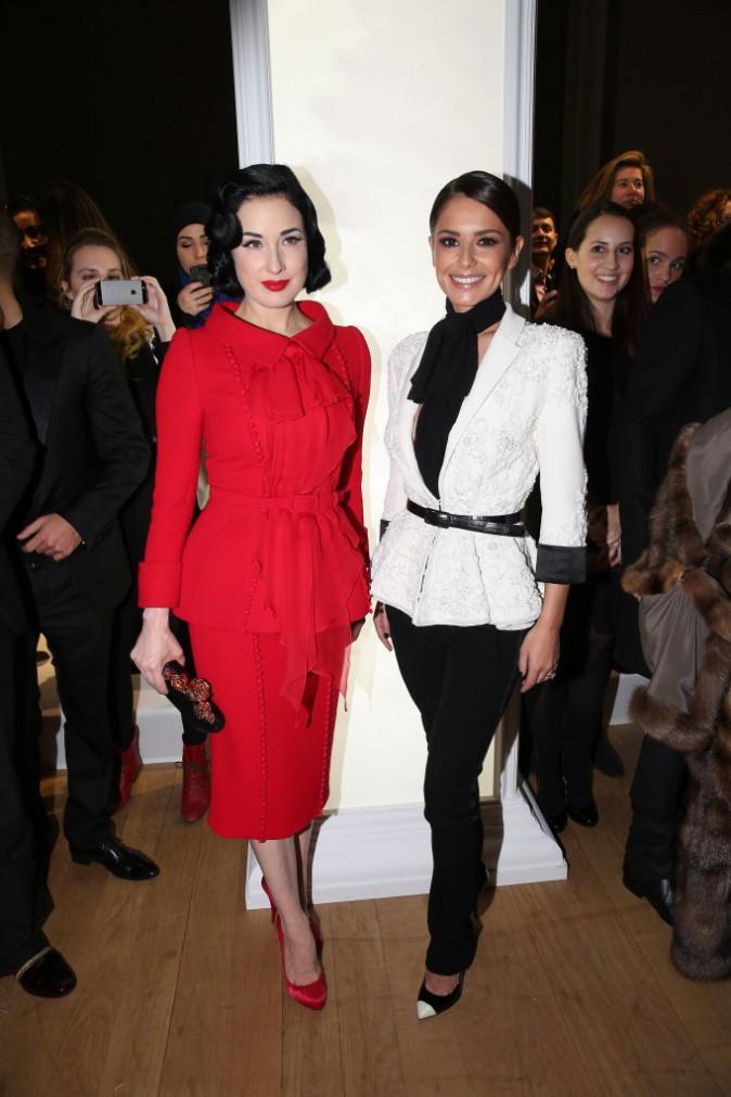 Cheryl Fernandez-Versini et Dita Von Teese le 29 janvier 2015