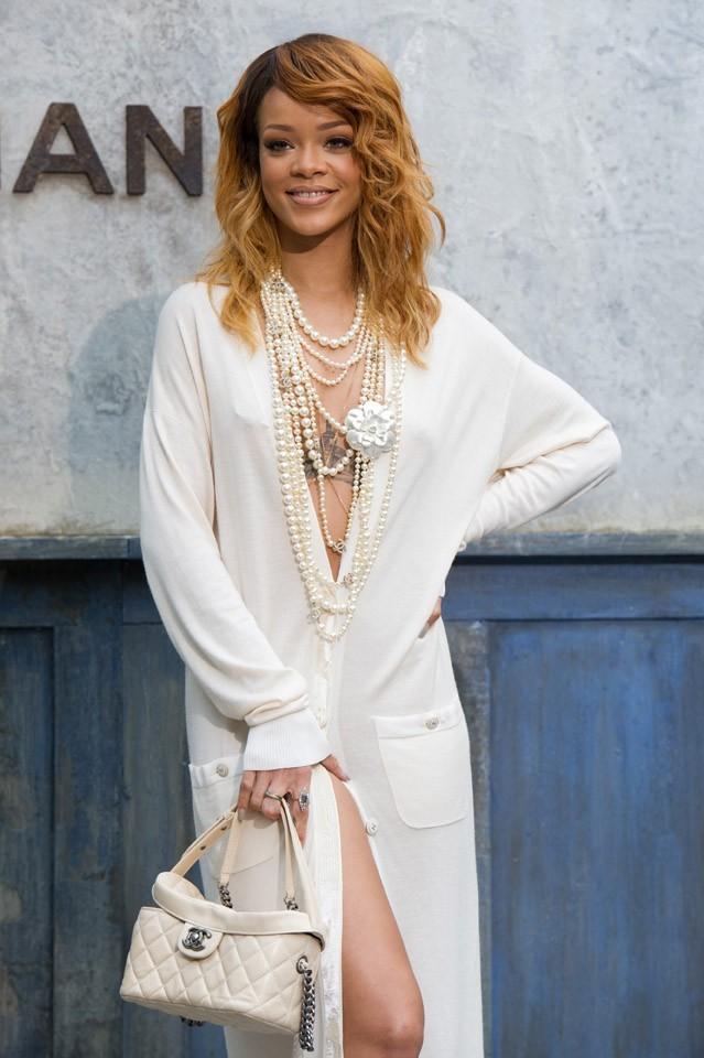Rihanna au défilé Chanel organisé au Grand Palais, à Paris, le 2 juillet 2013