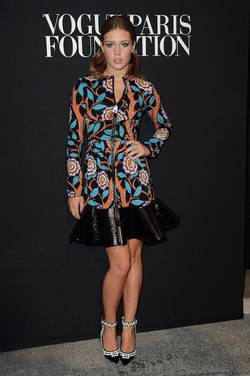 Adele Exarchopoulos en Louis Vuitton au gala Vogue Foundation le 9 juillet 2014
