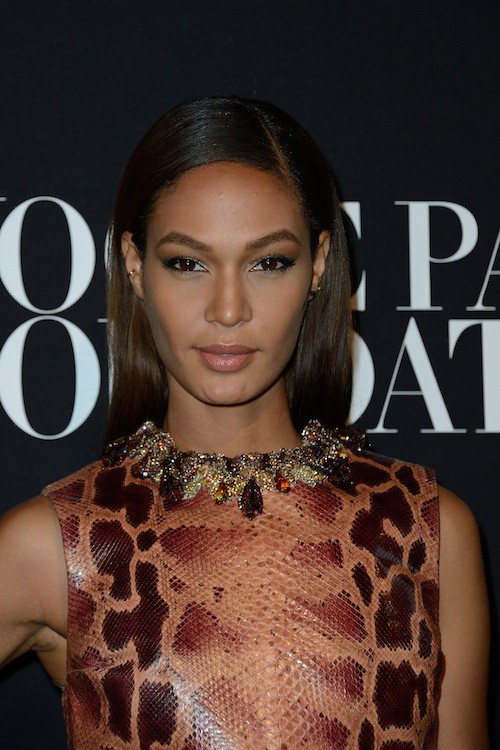 Joan Smalls au gala Vogue Foundation le 9 juillet 2014