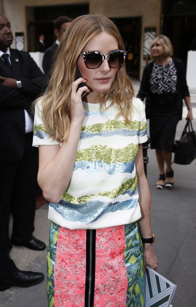 Olivia Palermo à Paris, le 8 juillet 2015