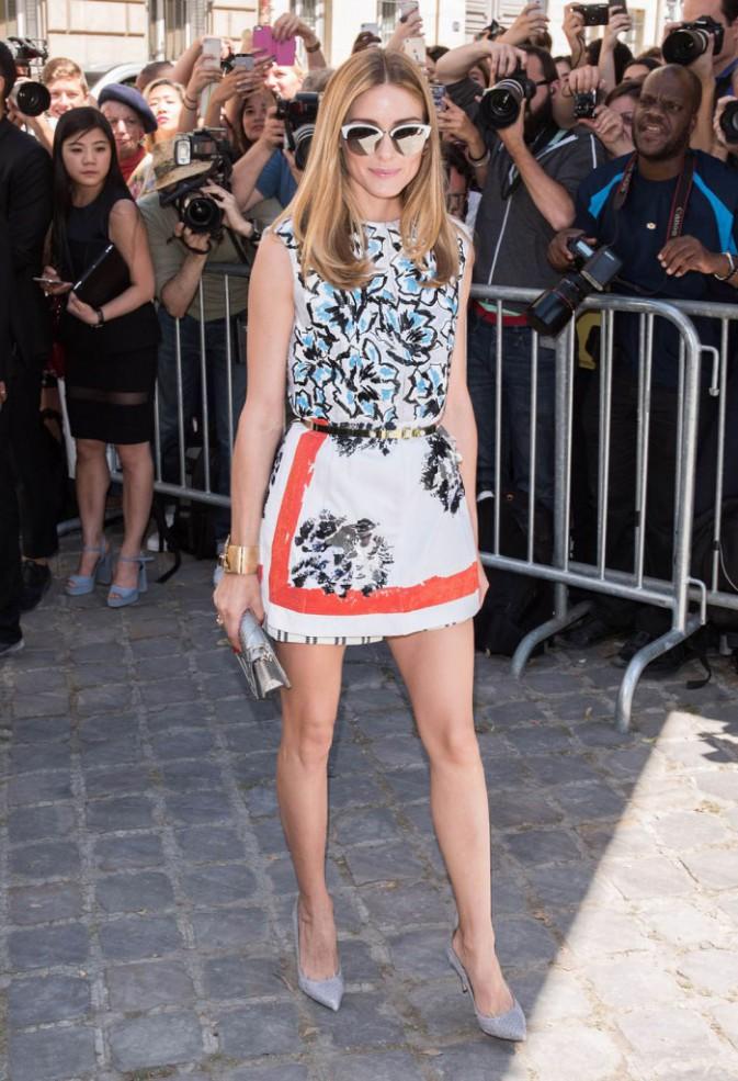 Olivia Palermo au défilé Dior, le 6 juillet 2015