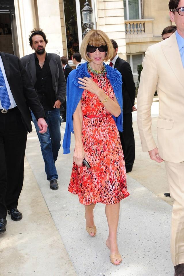 Anna Wintour lors du défilé Valentino à Paris, le 6 juillet 2011.