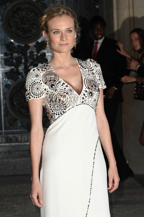 Diane Kruger à son arrivée au Grand Palais pour le défilé Chanel ...