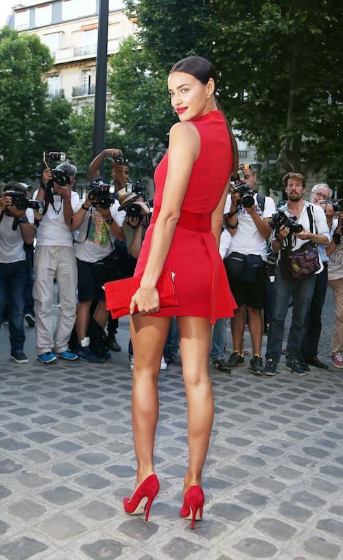 Irina Shayk à la soirée Vogue pendant la Fashion Week Haute Couture de Paris, le 6 juillet 2015