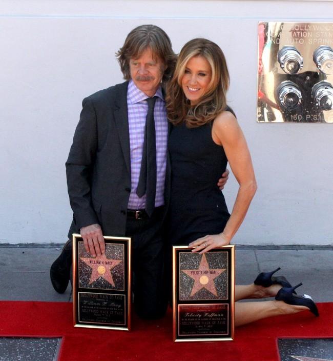 Avec son mari, l'acteur William H. Macy