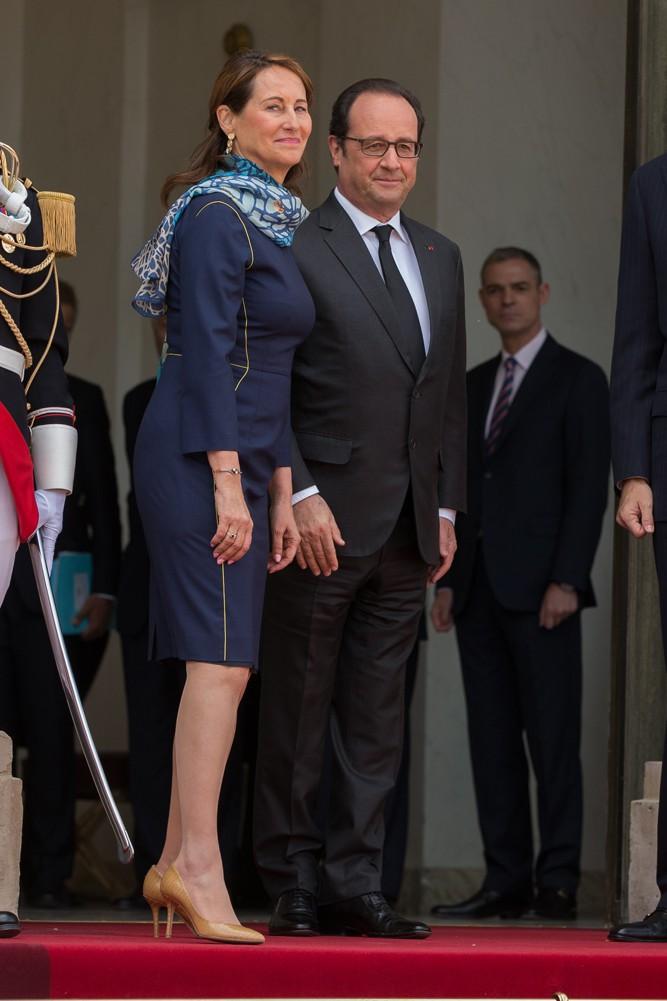 Ségolène Royal et François Hollande à l'Elysée le 2 juin 2015