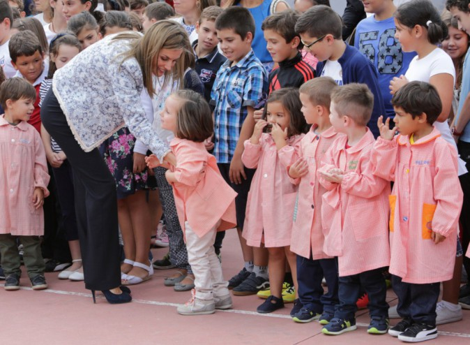 Photos : Felipe et Letizia d'Espagne : retour à l'école pour le couple royal !