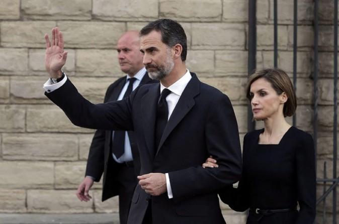 Felipe et Letizia d'Espagne à Barcelone le 27 avril 2015
