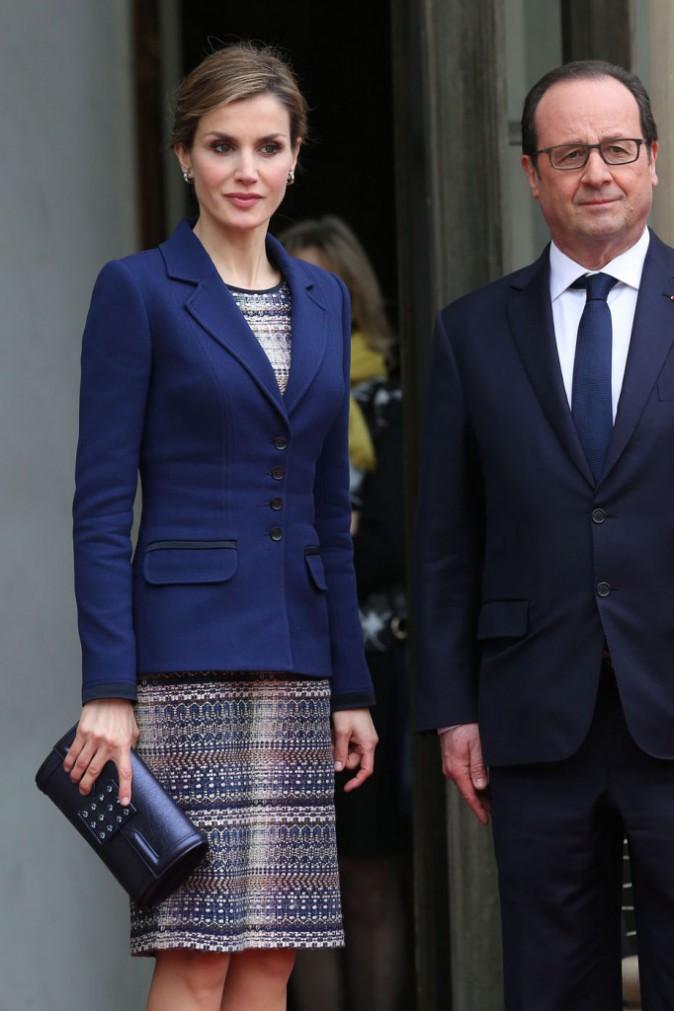 Felipe VI et Letizia d'Espagne quittent précipitamment l'Elysée !