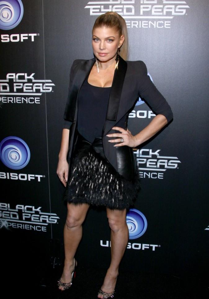 Fergie lors du lancement du jeu The Black Eyed Peas Experience, à Los Angeles le 21 novembre 2011.