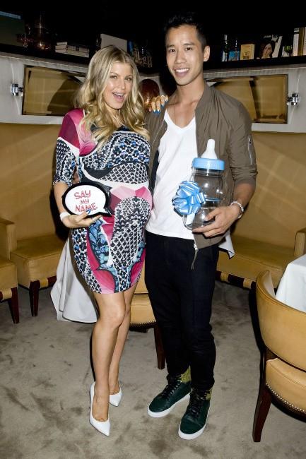 Fergie et Jared Eng lors de la baby shower de la chanteuse américaine, le 28 juillet à Brentwood.