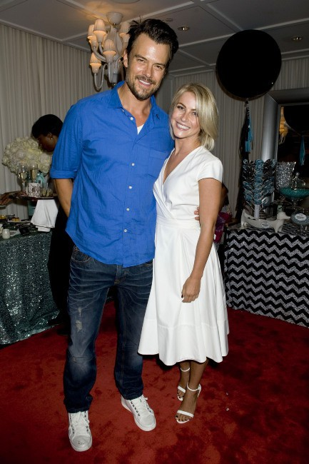 Josh Duhamel et Julianne Hough lors de la baby shower de Fergie, le 28 juillet à Brentwood.