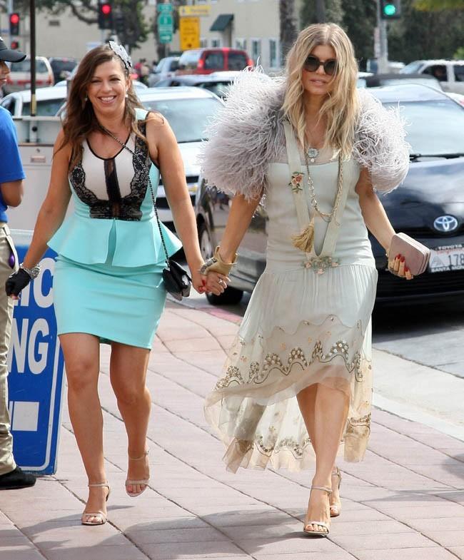 Fergie fête le futur mariage de sa soeur Dana à Santa Monica le 2 mars 2013