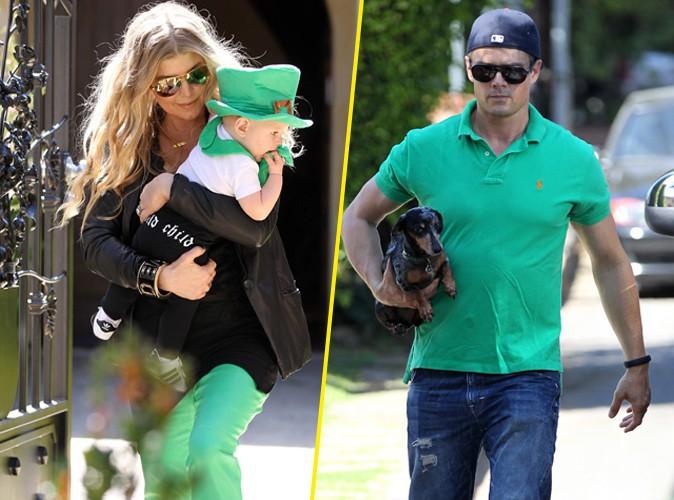 Fergie en famille à Brentwood, le 16 mars 2014.