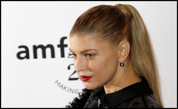 Fergie lors du Gala de l'amfAR à Paris, le 23 juin 2011.