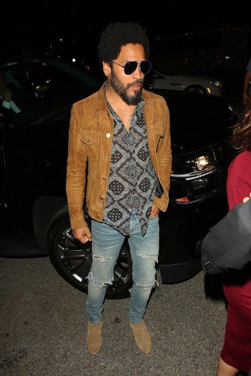 Lenny Kravitz, Halloween 2015 à Los Angeles
