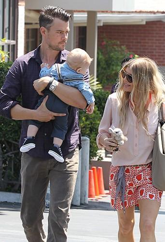 Josh Duhamel, Fergie et leur fils Axl à Los Angeles le 20 avril 2014