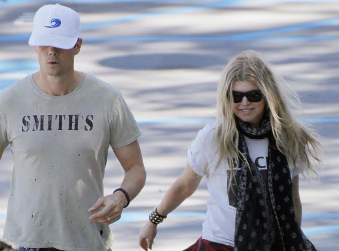 Fergie en famille à Los Angeles le 30 mars 2014
