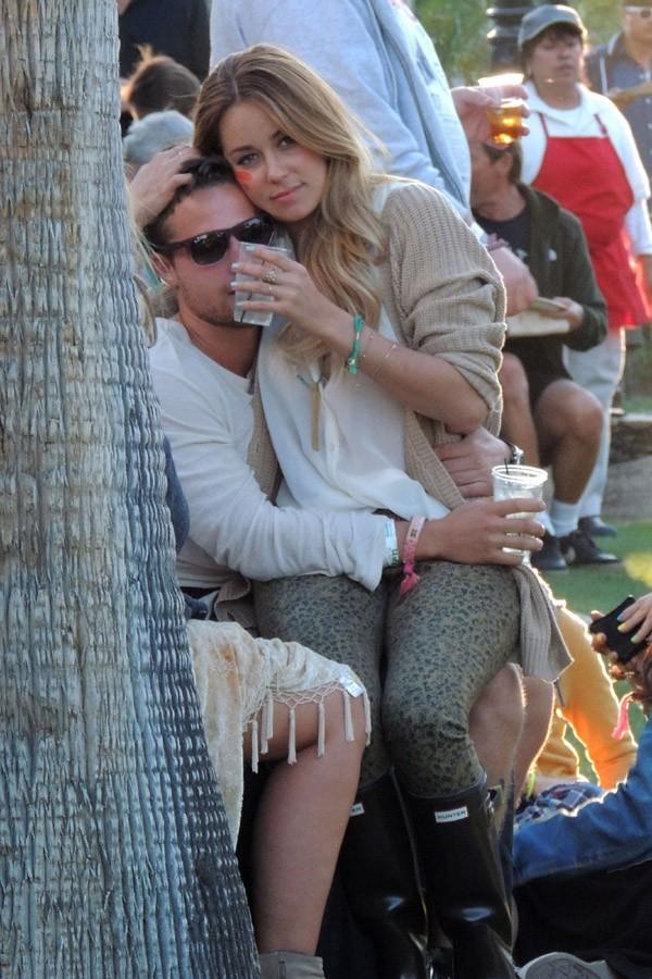 L'actrice et star de téléréalité américaine Lauren Conrad accrochée à son chéri !