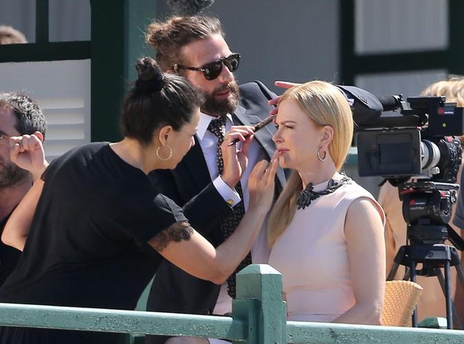 Festival de Cannes 2014 : Nicole Kidman : entourée d'une équipe de choc pour ses interviews sur la Croisette !