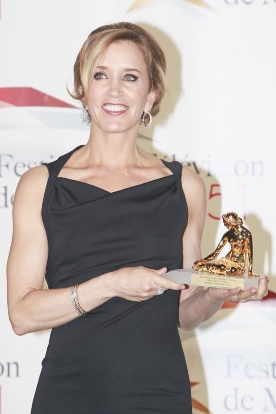 Elle a reçu le prix de la Nymphe d'Or !