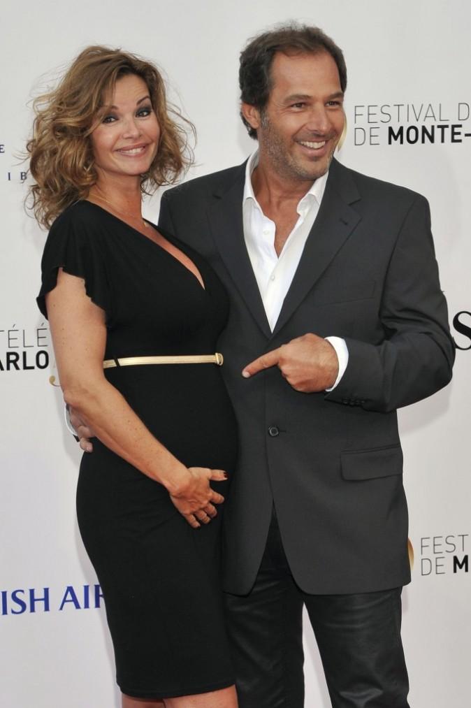 Ingrid Chauvin et son mari Thierry Peythieu lors du Festival de Monte-Carlo à Monaco, le 9 juin 2013.