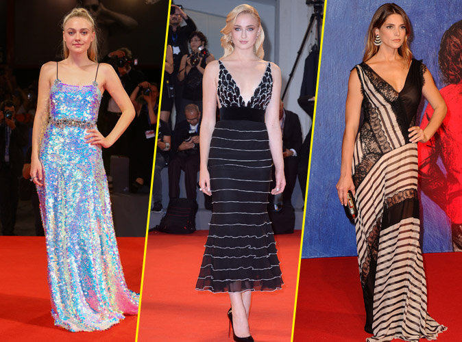 Photos : Festival de Venise : Dakota Fanning, Ashley Greene et Sophie Turner : somptueuses sur le red carpet !