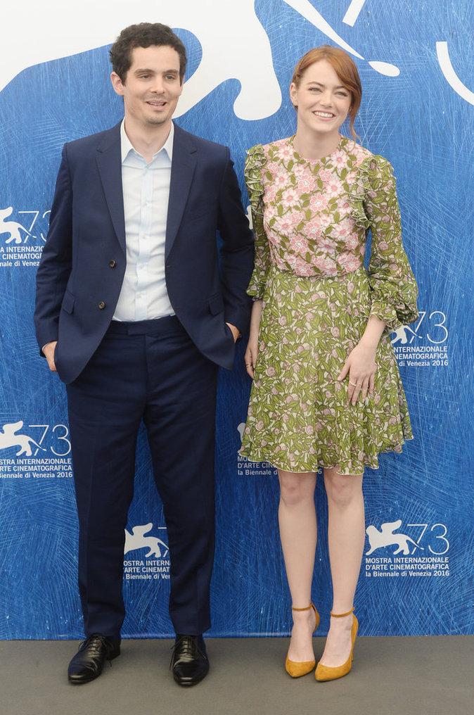 """Emma Stone au Festival de Venise pour la présentation du film """"Lalaland"""""""
