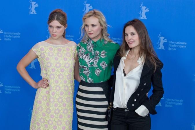 Léa Seydoux, Diane Kruger et Virginie Ledoyen pour pour le photocall des Adieux de la Reine !