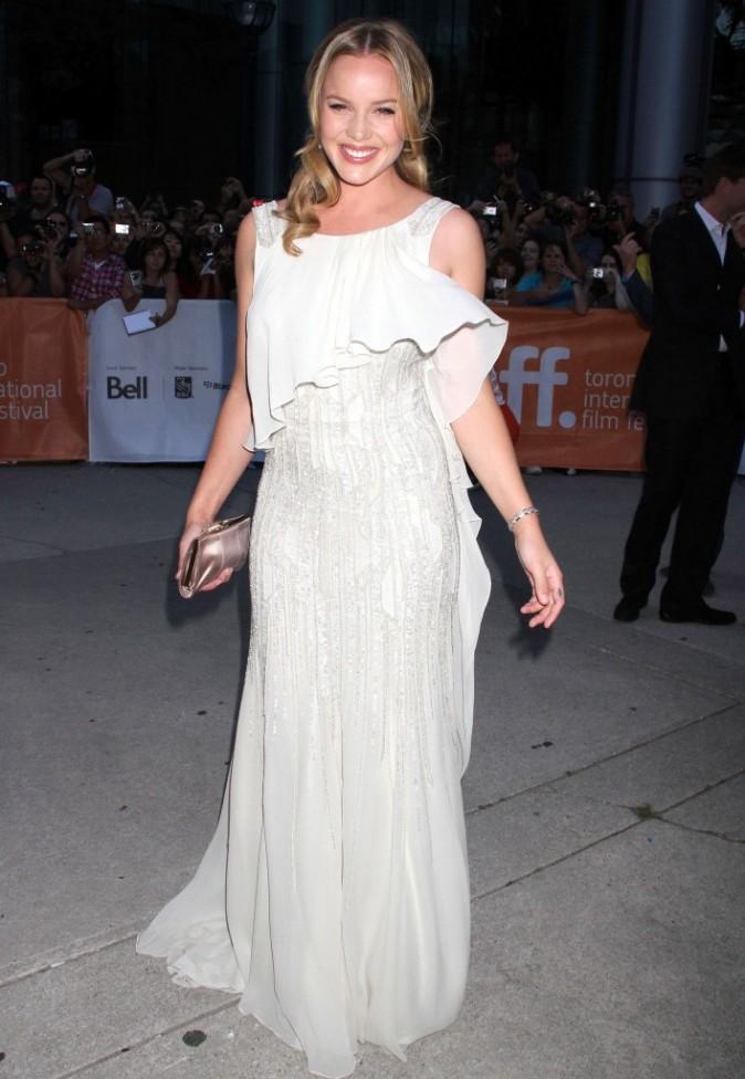 Abbie Cornish en Elie Saab lors du Festival du Film de Toronto, le 12 septembre 2011.