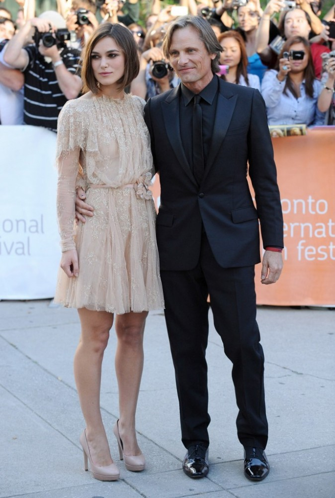 Keira Knightley et Viggo Mortensen lors du Festival du Film de Toronto, le 11 septembre 2011.